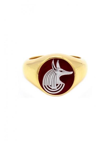Anubis Signet Ring